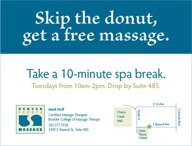 Denver Sports Massage Flyer