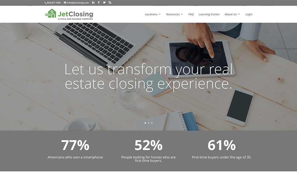 JetClosing website